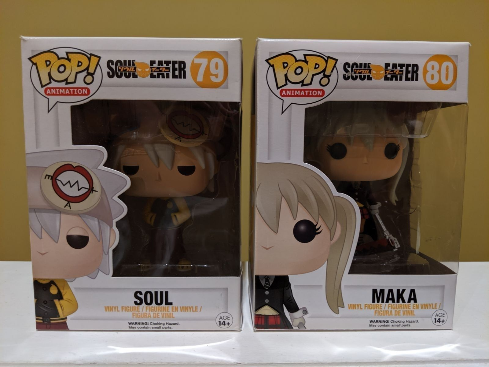 Funko Pop Animation Soul Eater 79 Soul 80 Maka Vaulted Retired Authentic 2pc Lot Bundle Guaranteed Authentic See Pics Funko Pop Anime Funko Funko Pop