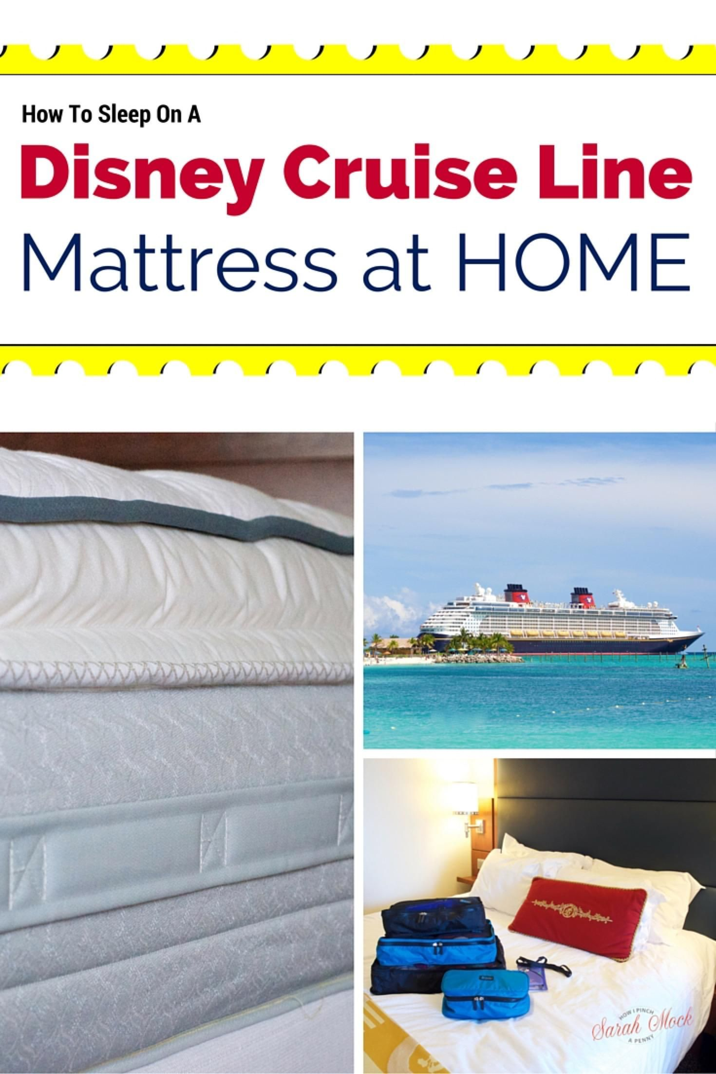 how to sleep on a disney cruise line mattress at home i have to