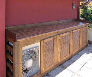 Condizionatore esterno arredo da esterno pinterest for Condizionatori d arredo
