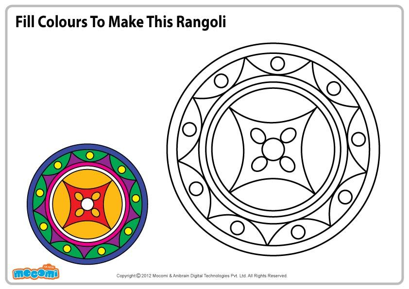 Pattern For Rangoli Colouring Pages For Kids Mocomi Coloring Pages For Kids Fun Arts And Crafts Online Coloring Pages