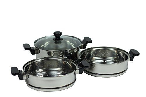Pal Homegoods 3tier Steamer Pot Xl Diameter Chinese Stainless Steel Want To Know More Visit Kitchen Cookware Steamer Best Cooker