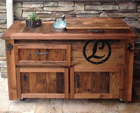Custom Reclaimed Or Barnwood Furniture Bar Cabinets Wooden Coolers Console Tables Buffets Sideboards Kitchen Islands