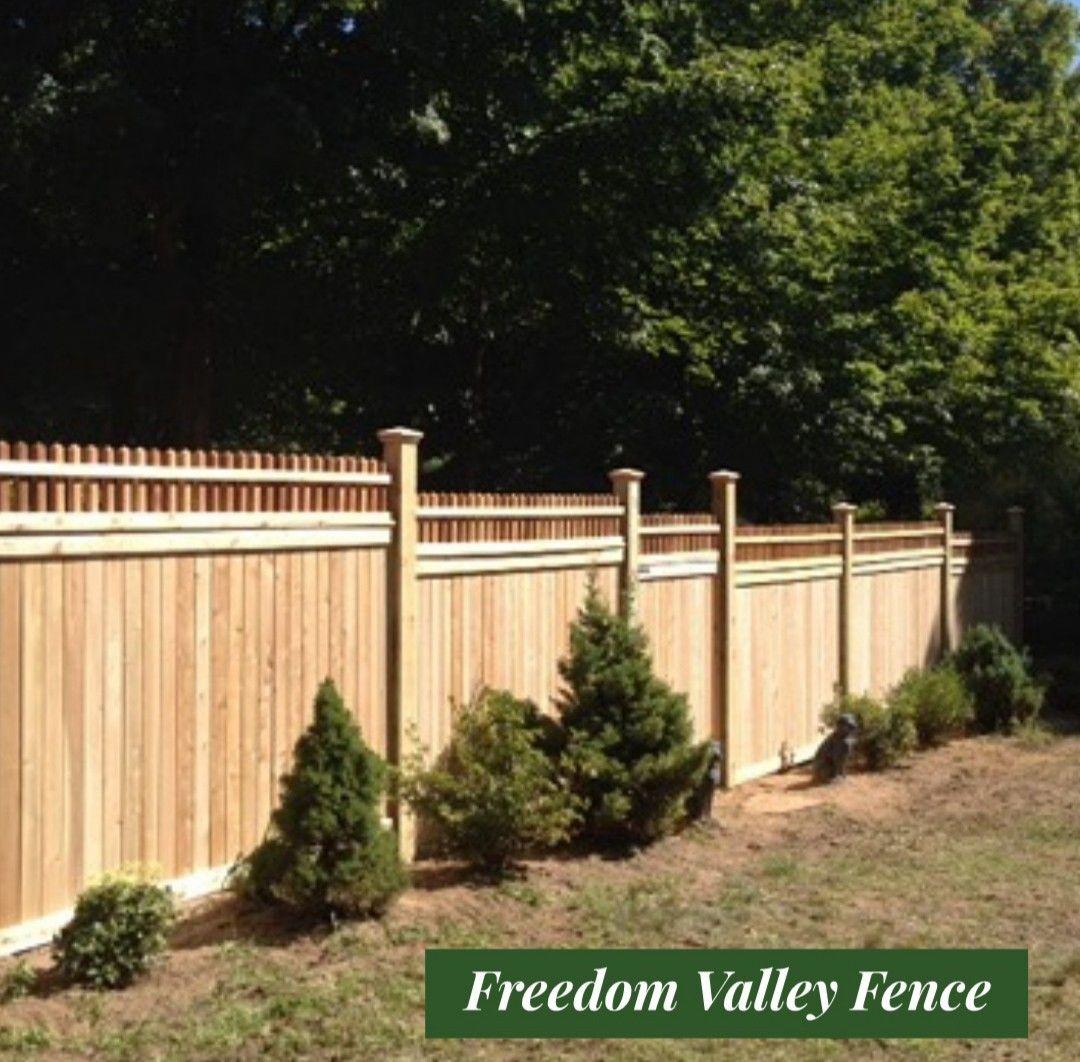 Cedar fence wood fence privacy fence ornamental