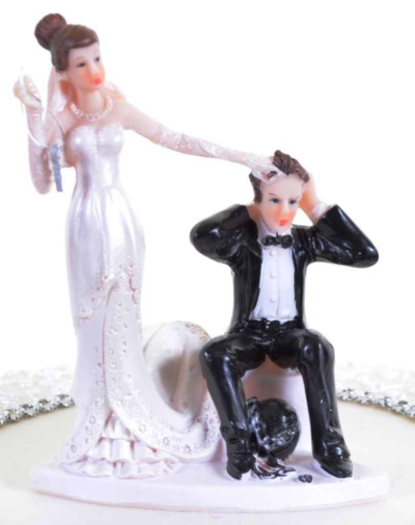 Wedding Cake Topper Bride And Groom Ball Chain Personalised