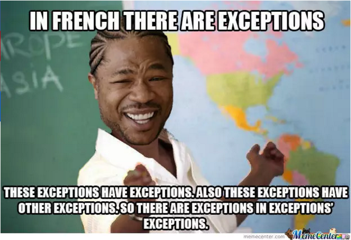 French Exceptions Memes Funny School Memes School Memes Funny