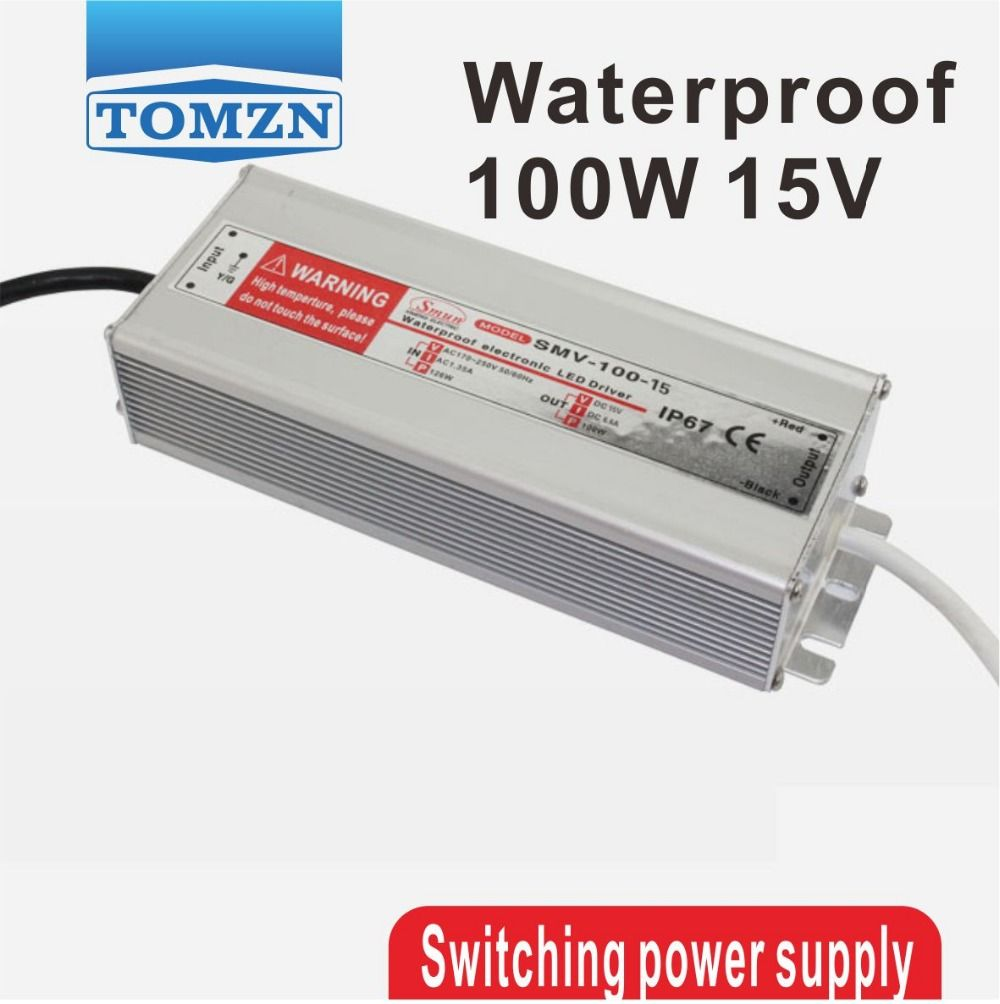 100W 15V Waterproof outdoor Single Output Switching power supply ...