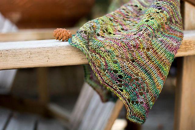 Ashling Shawl by Veera Välimäki, knitted by happytempest   malabrigo Mechita in Arco Iris