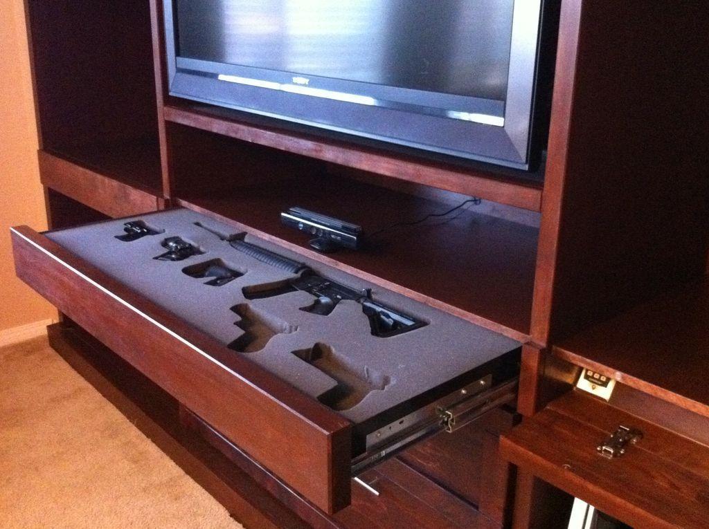 Entertainment center gun safe. | Vaults / Safes / Bunkers ...