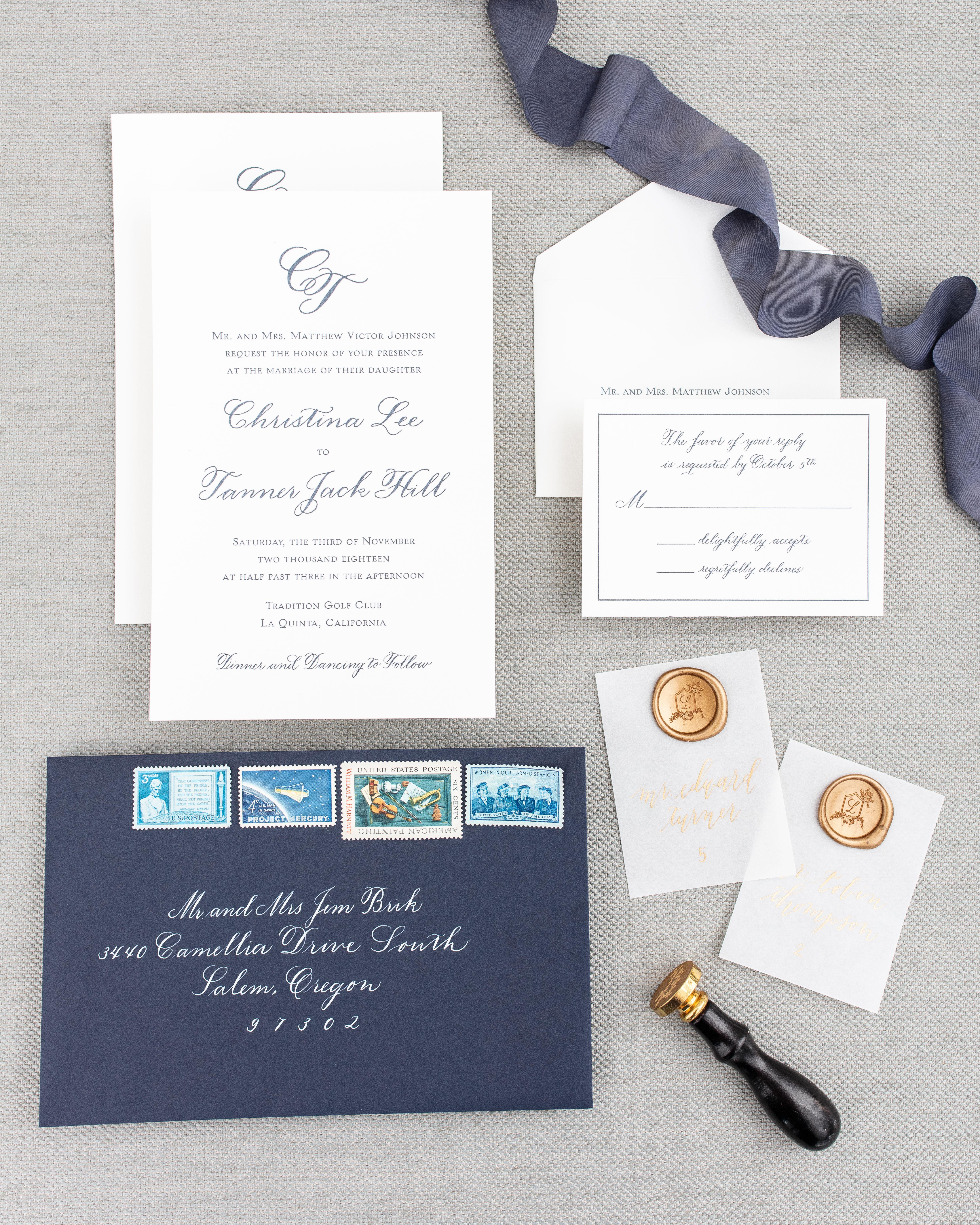 Custom Wedding Calligraphy Services Custom Wedding Calligraphy Minimalist Wedding Invitations Wedding Stationery