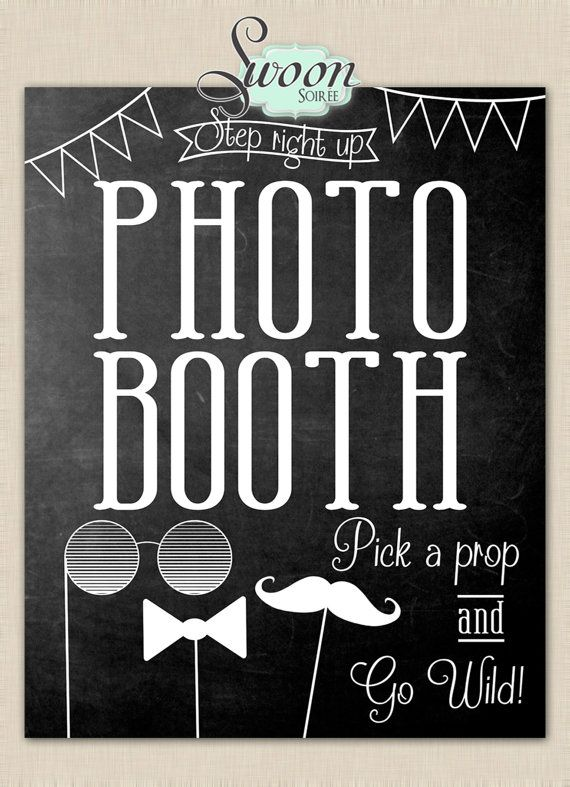 Photo Booth Printable Large Poster 16x20 Wedding Sign Party On