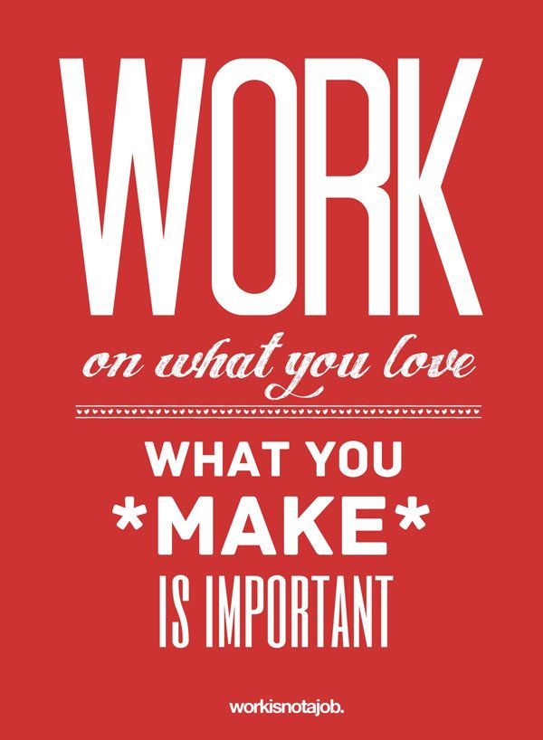 Love Quote Posters Interesting Love Your Job Typography Design Posters  A Depiction Through