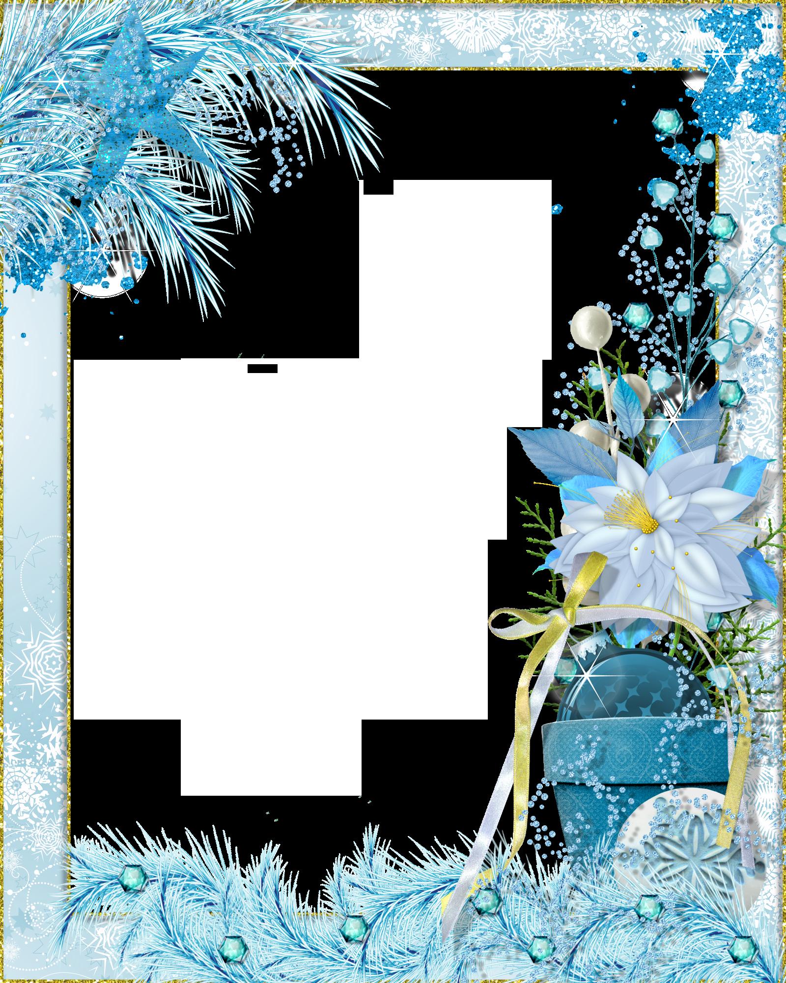 Transparent Png Photo Frame Winter Fantasy Okraje Papier