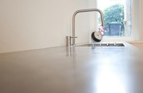 Arbeitsplatte mit Betonoptik - Küchenarbeitsplatten aus Beton - k chenarbeitsplatten aus beton