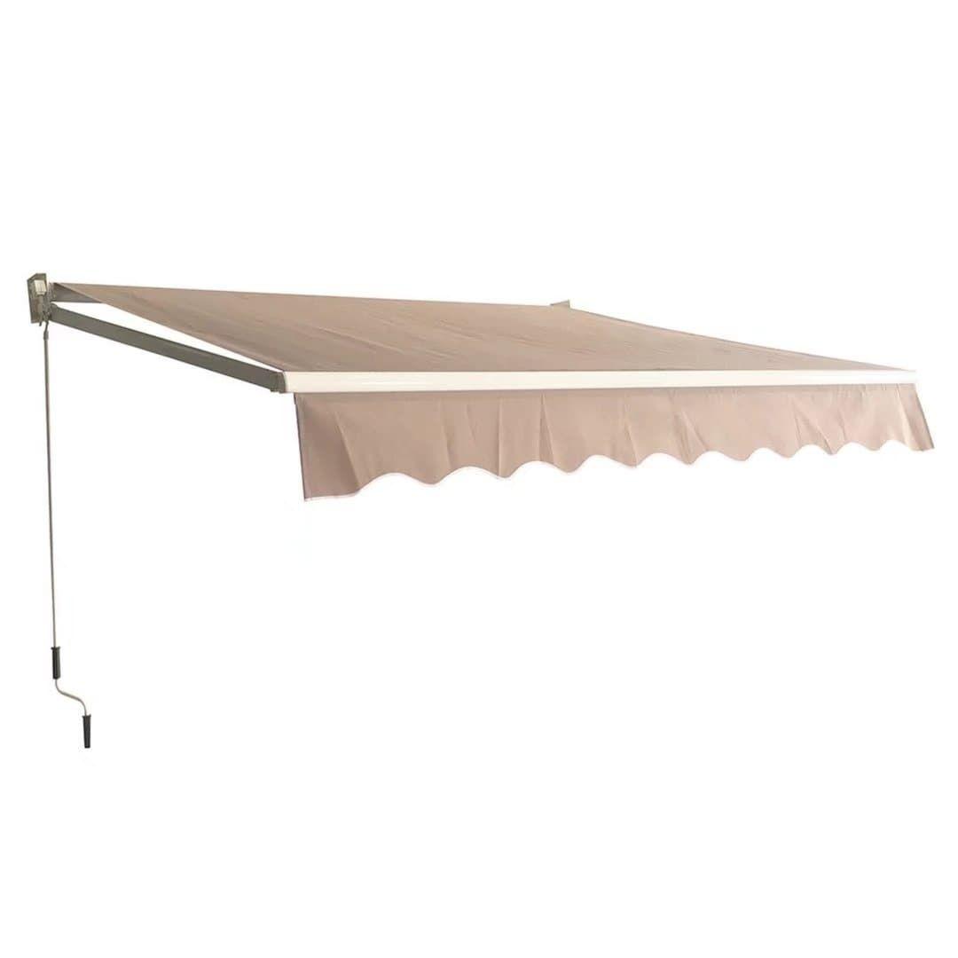 Patio Manual Retractable Sun Shade Awning 8.2u0027x6.5u0027 Door Awning Canopy Tan (Aluminum) #FDW-HH-87-Tan  sc 1 st  Pinterest & Patio Manual Retractable Sun Shade Awning 8.2u0027x6.5u0027 Door Awning ...