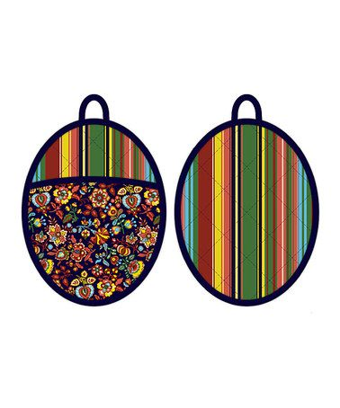 Take a look at this Parlor Une Oval Oven Mitt - Set of Two by Kennedy International on #zulily today!