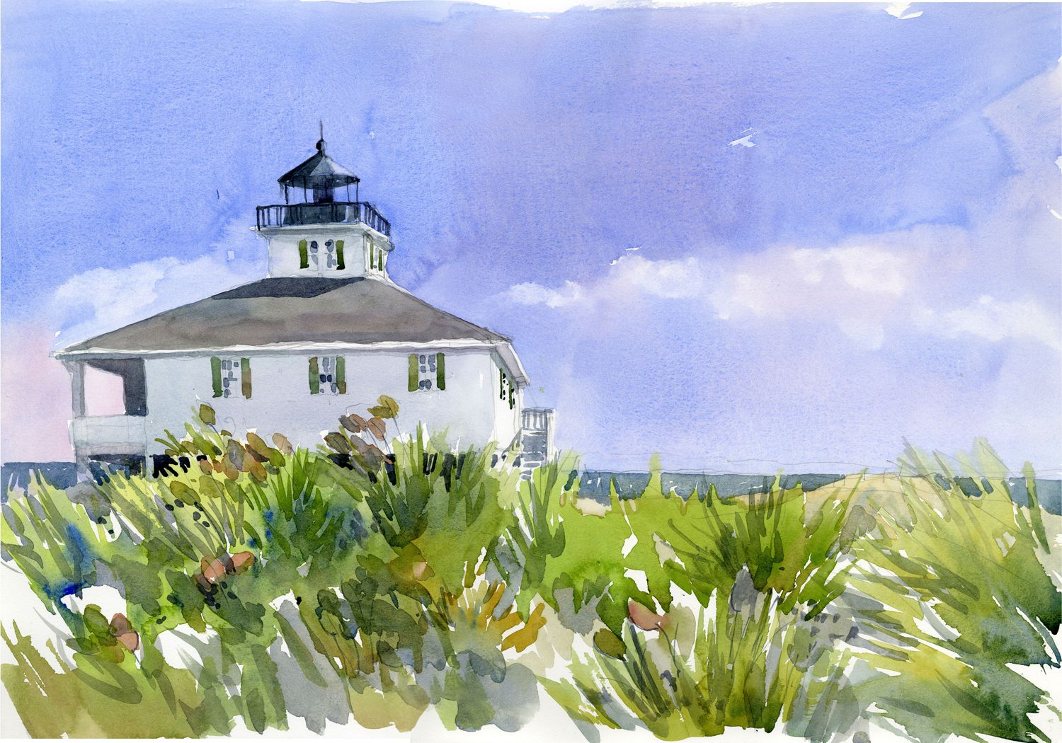 Sanibel Island Paul Laseau Watercolor Beautiful Sketches