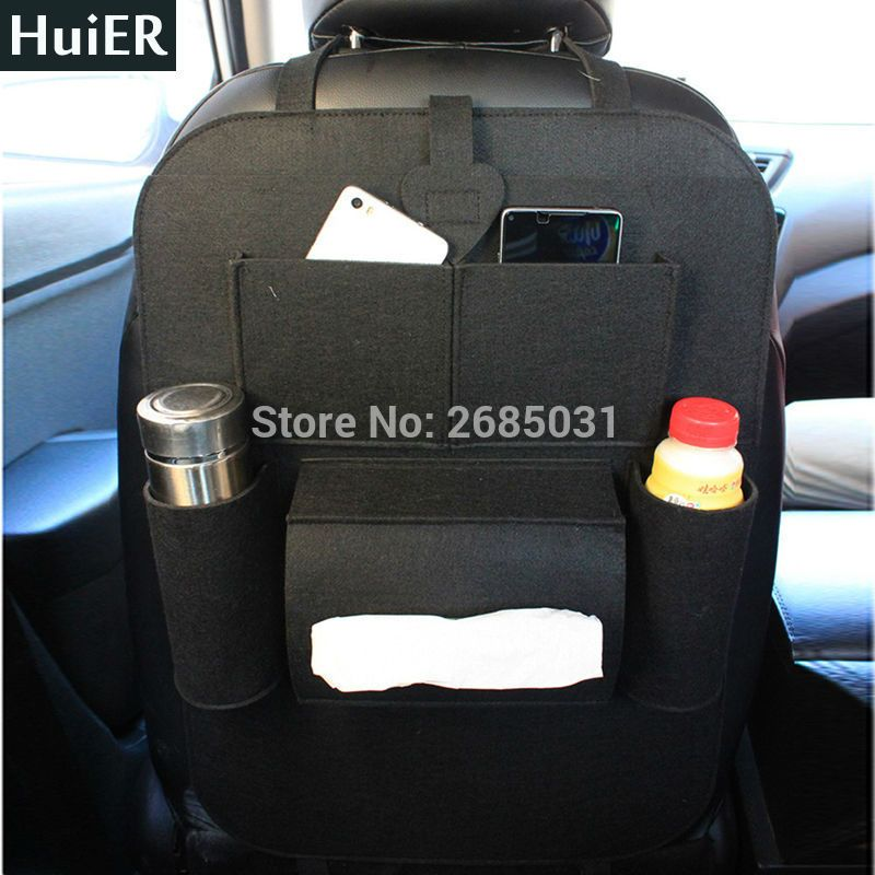 2X Car Seat Back Protector Cover for Children Baby Kick Mat Protect Storage Bag