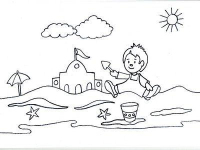 Maestra de Infantil: Dibujos para colorear el verano | VERANO-VERÁN ...