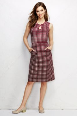 Women's Ponté Keyhole Sheath Dress - Pattern from Lands' End