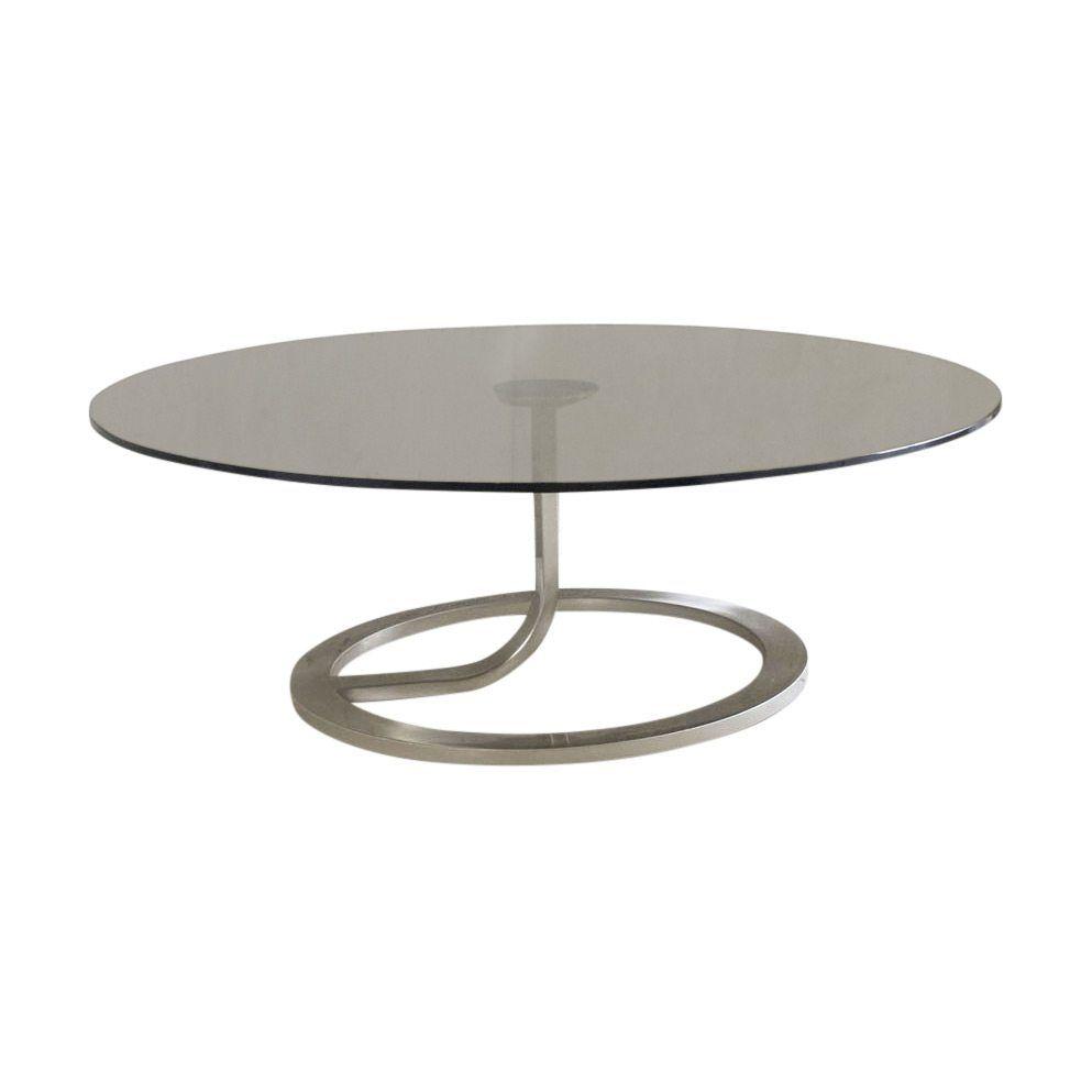 Original Natuzzi Italia Wonder Smoked Glass And Chrome Coffee Table Metal Furniture Coffee Table Table [ 993 x 993 Pixel ]