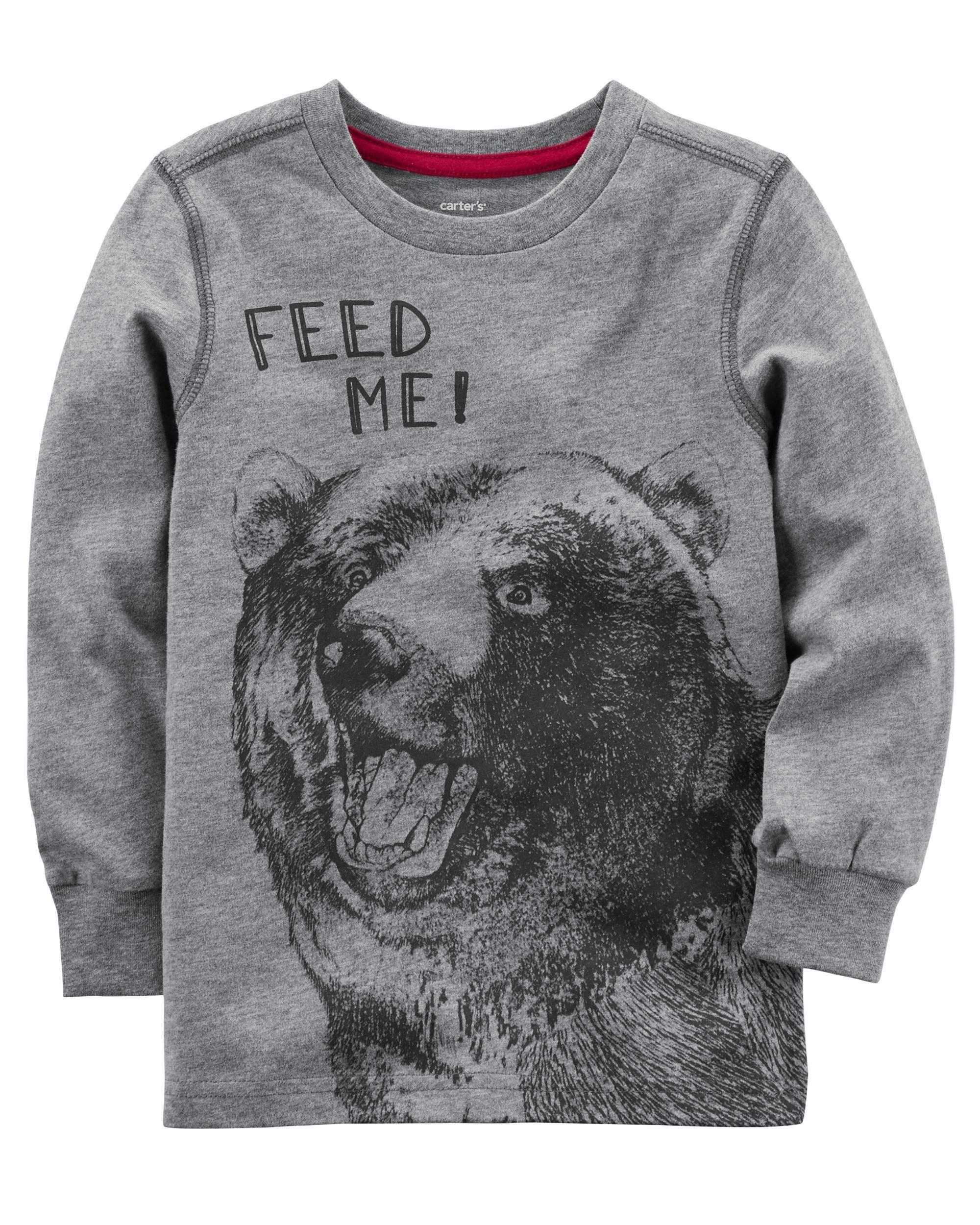 a2543bae Bear Graphic Tee   Lucas   Long sleeve tops, Boys shirts, Shirts