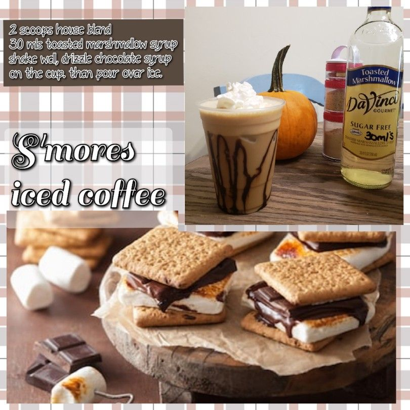 S'mores iced coffee!!! House blend iced coffee available!! *Click*   Herbalife shake recipes ...