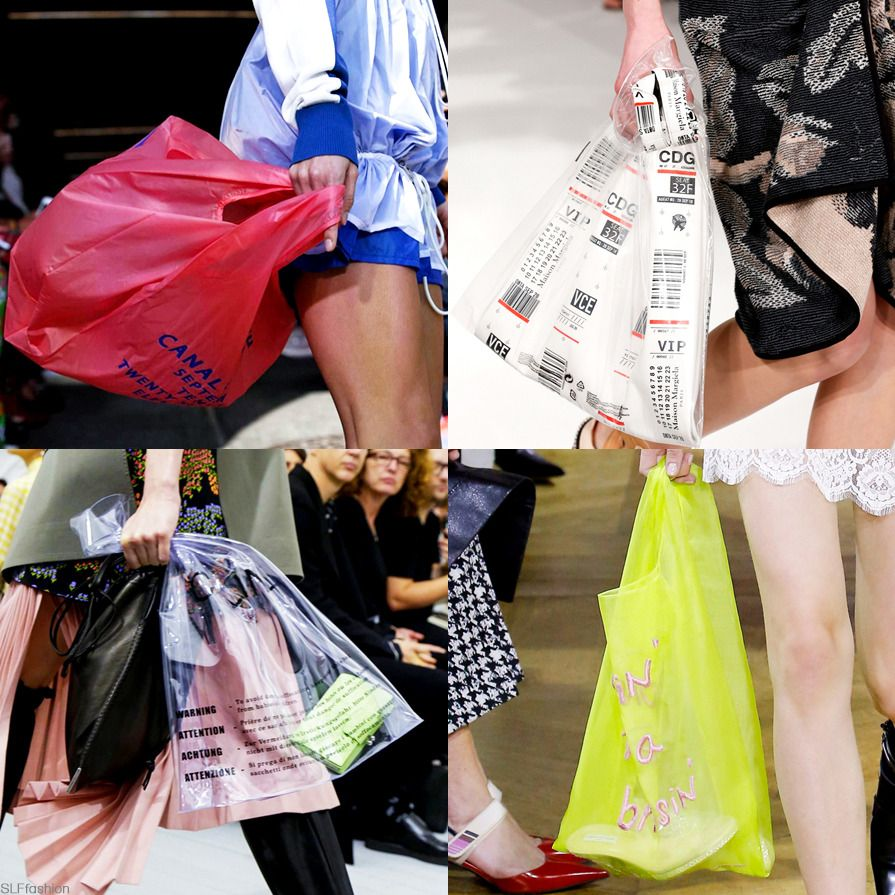 Bags Trend For Spring Summer 2018: Plastic Shopping Bag