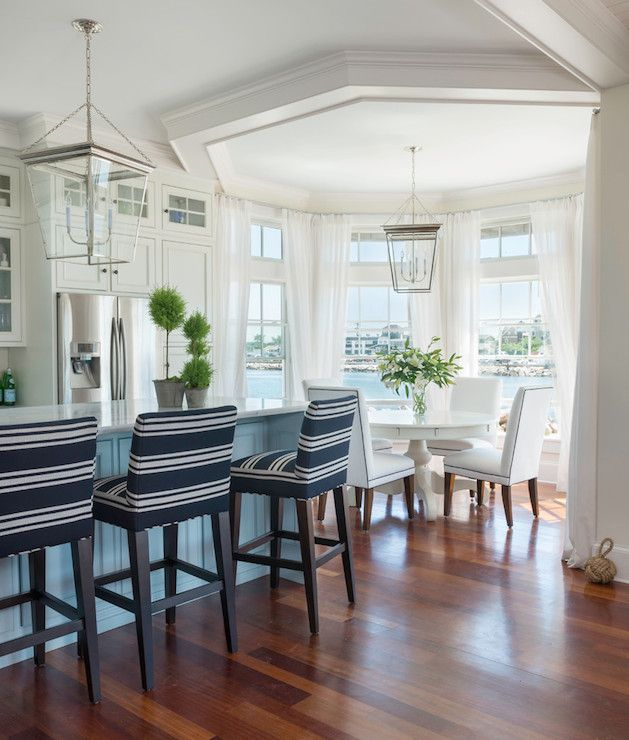 Bay Window Nook incredible waterfront kitchen with an octagonal bay window