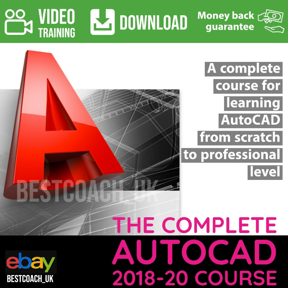 The Complete Autocad 2018 20 Course Video Training Ebay In 2020 Learn Autocad Training Video Online Courses With Certificates