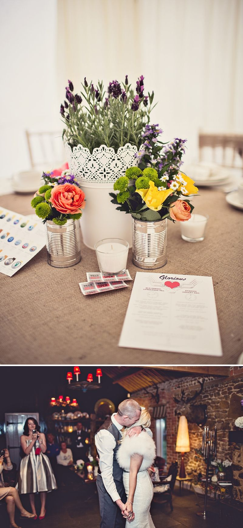 An eclectic vintage inspired wedding at Cliff Barns in ...