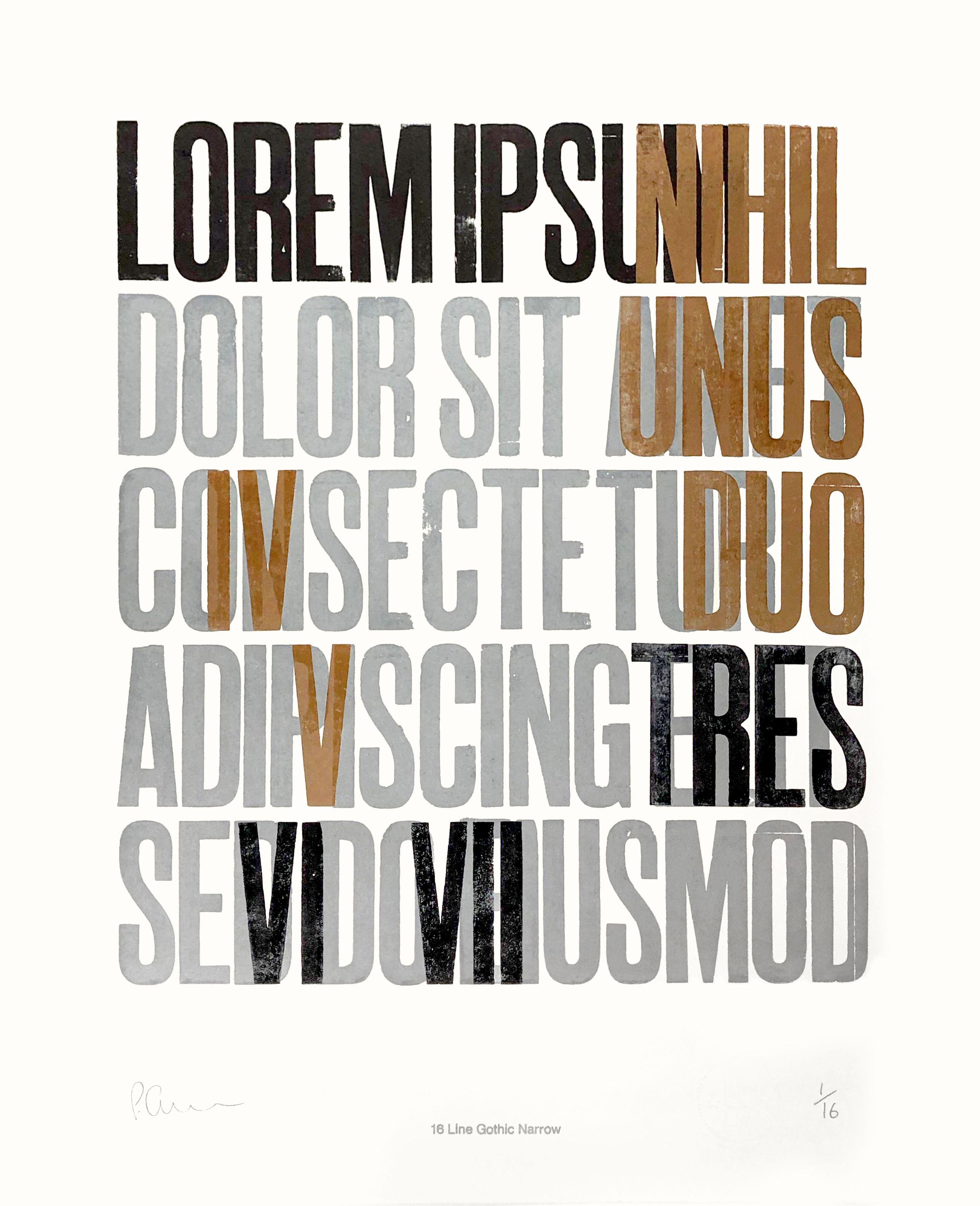 Lipsum Letterpress Poster