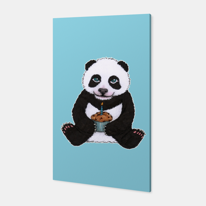 Baby panda's Birthday Canvas Print by @Savousepate on Live Heroes #canvasprint #wallart #panda #cub