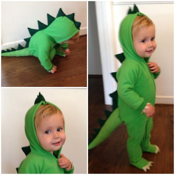 Dinosaur Semi-Homemade Halloween Costumes - DIY costumes made from hooded footie pajamas  sc 1 st  Pinterest : funny dinosaur costume  - Germanpascual.Com