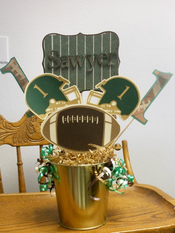 Football party centerpieces birthday or game by