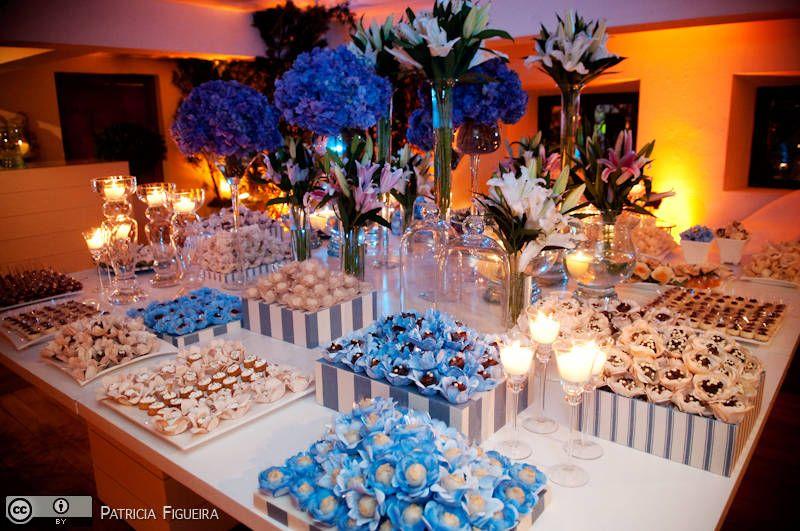 2719539a5e979 casamento azul e branco Decoração Casamento Azul Tiffany