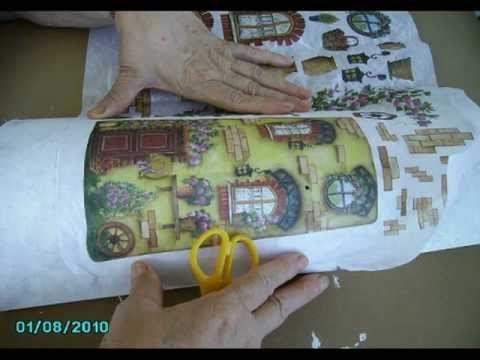 Resultado de imagen de tejas decoradas con papel de arroz kendin yap ve el i leri pinterest - Accesorios para decorar tejas ...