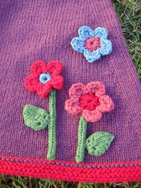 Simple Crocheted Flower pattern
