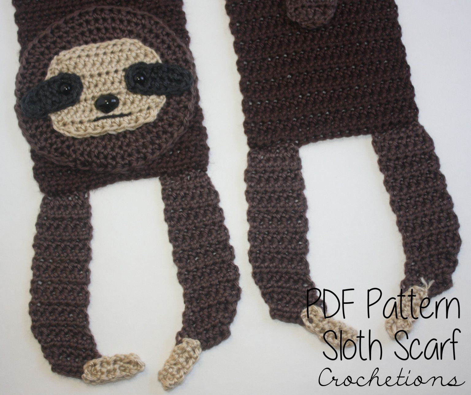 4f83015a0fb46 Love slothes? Make your own with the Sloth Scarf Crochet Pattern ...