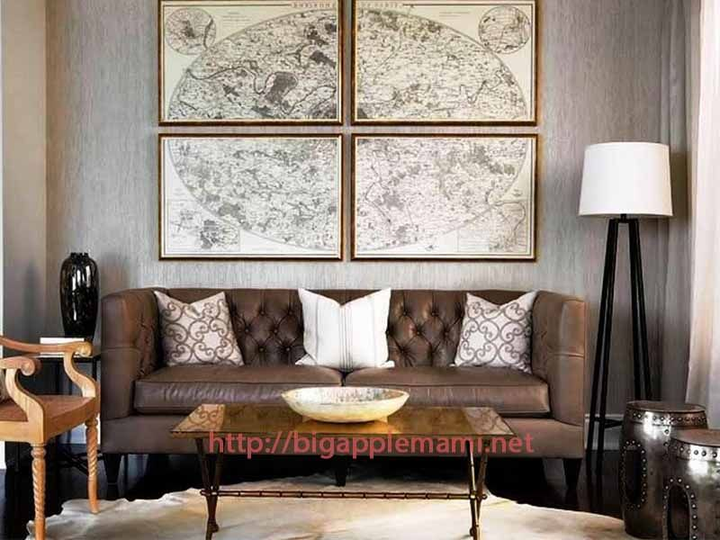 Large Map Wall Covering Ideas For Living Room