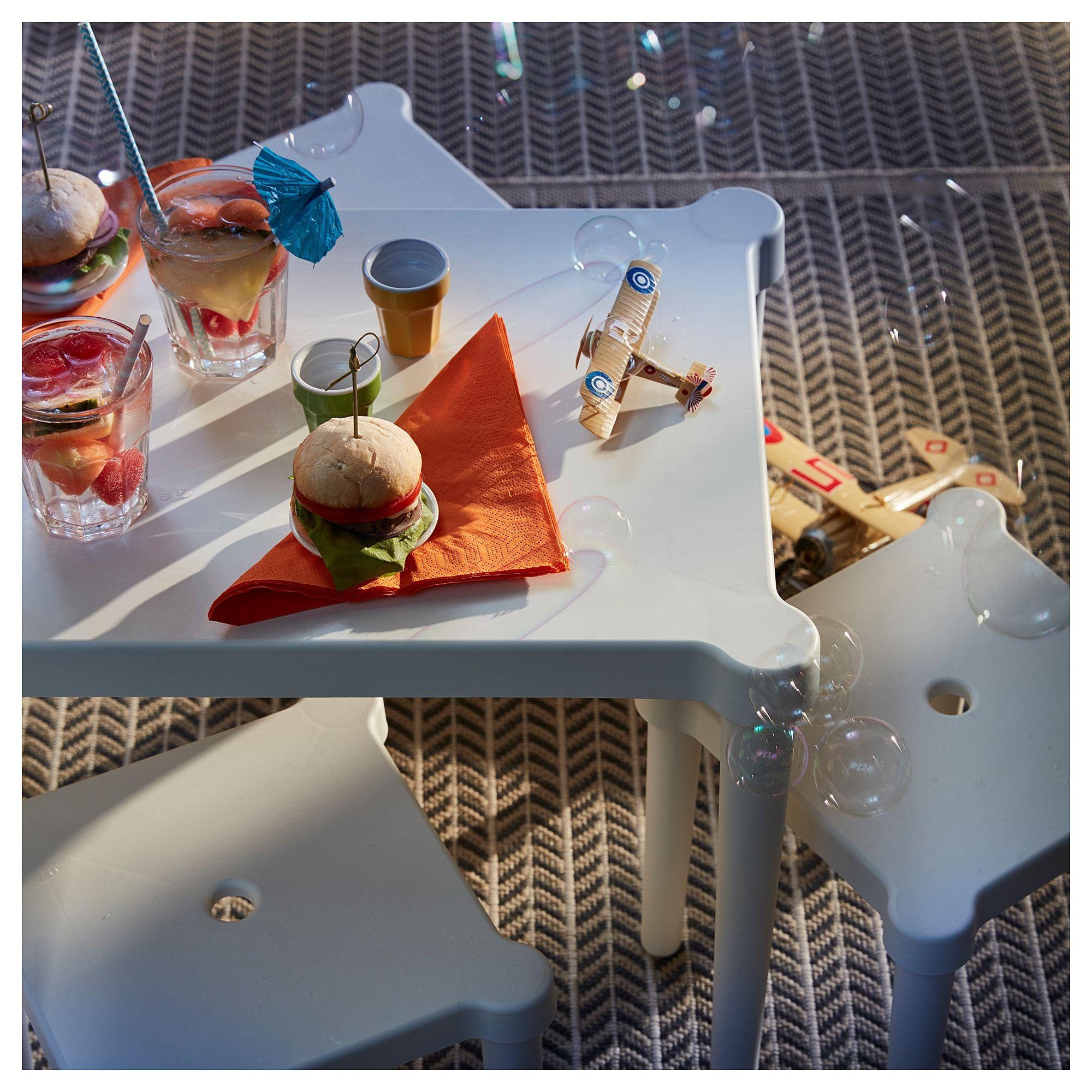 IKEA UTTER Indoor/outdoor, White Children's table Ikea
