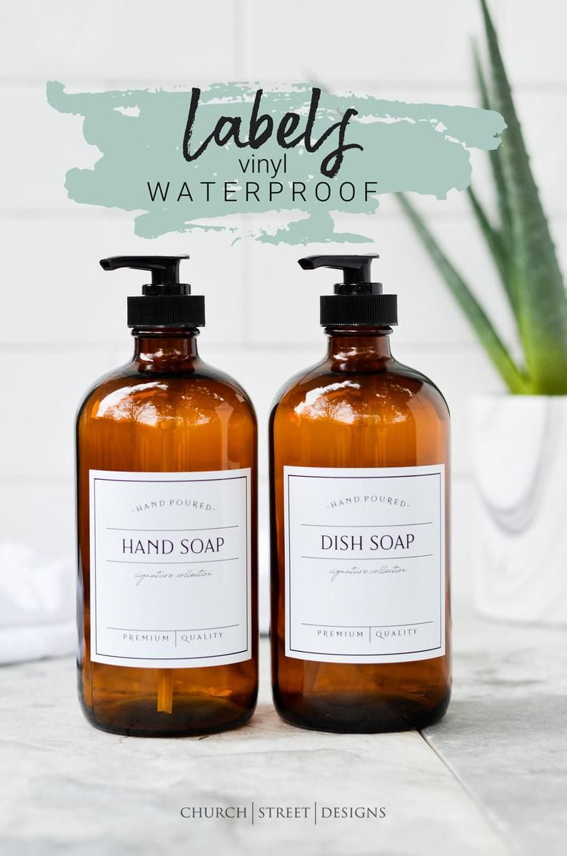 3 Labels Waterproof Vinyl Labels Hand Lotion Labels Etsy In 2020 Glass Soap Dispenser Refillable Soap Amber Glass