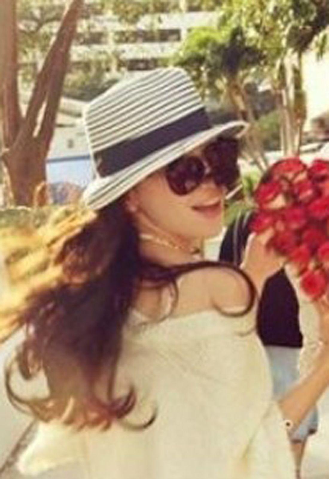Sun-shading Stripe Straw Hat