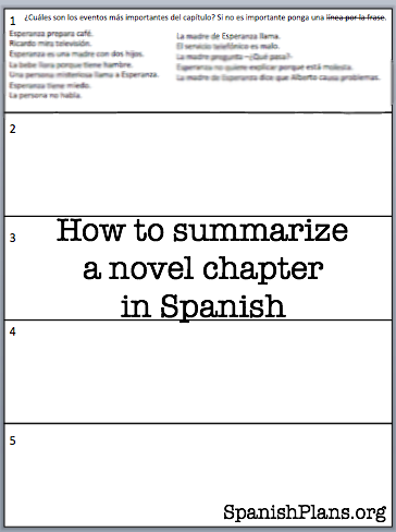 Our students just finished the first three chapters of the novel Esperanza  by Carol Gaab, of TPRS Publishing. So… | Chapter summary, Teaching summary,  Novel writing