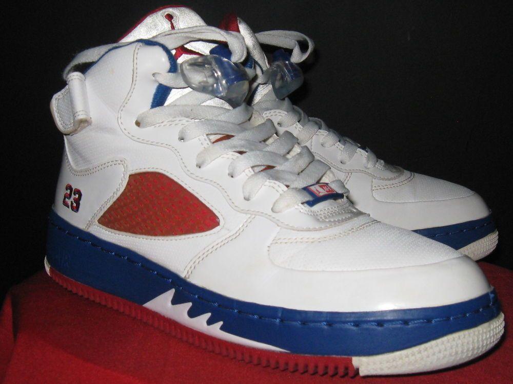 separation shoes 55e11 b3b61 Kids Nike Air Jordan Retro 5 Air Force Size 6.5Y White Red Blue 318609-162   Jordan  Athletic kicksonfire  Kickstagram  igsneakers  soleonfire