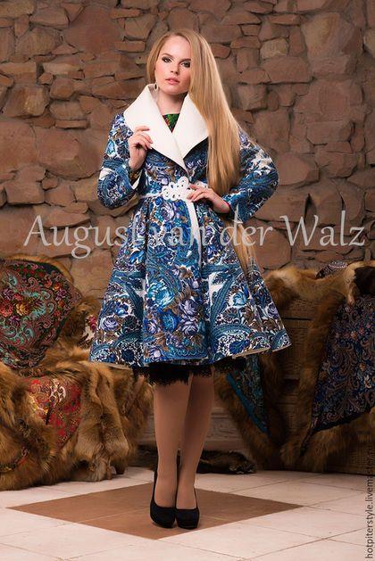 5933ffc5dab Дизайнерское пальто в Русском стиле