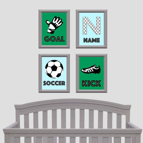 Soccer Nursery, Soccer Room Decor, Personalized Soccer Canvas, Design By  Kendra Etsy Shop