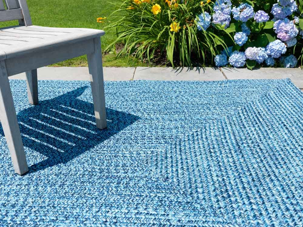 Blue indoor outdoor rug indoor and outdoor rugs for Indoor out door rugs