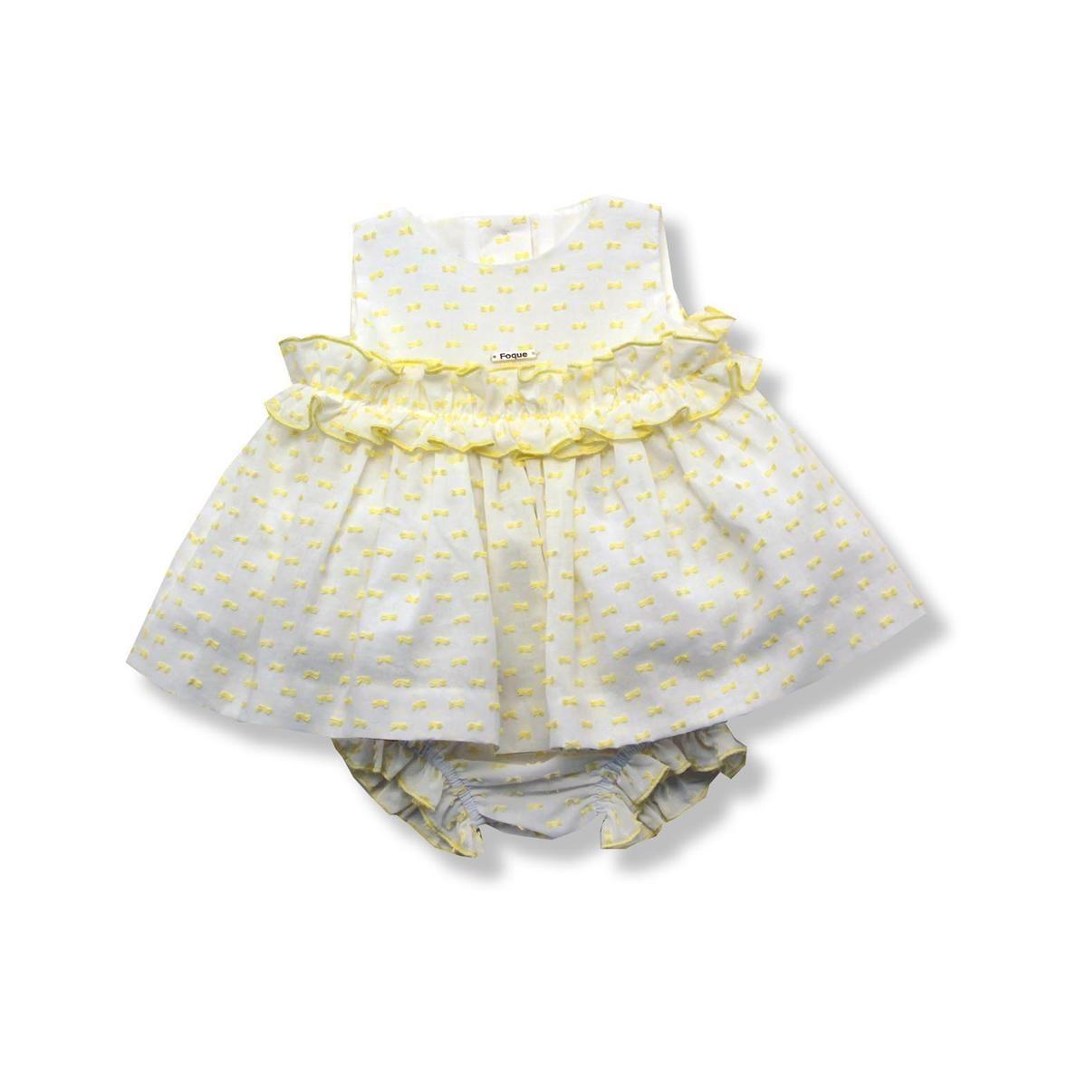 15941b7c5 Jesusito bebe niña sin mangas en plumeti amarillo precios comprar ...