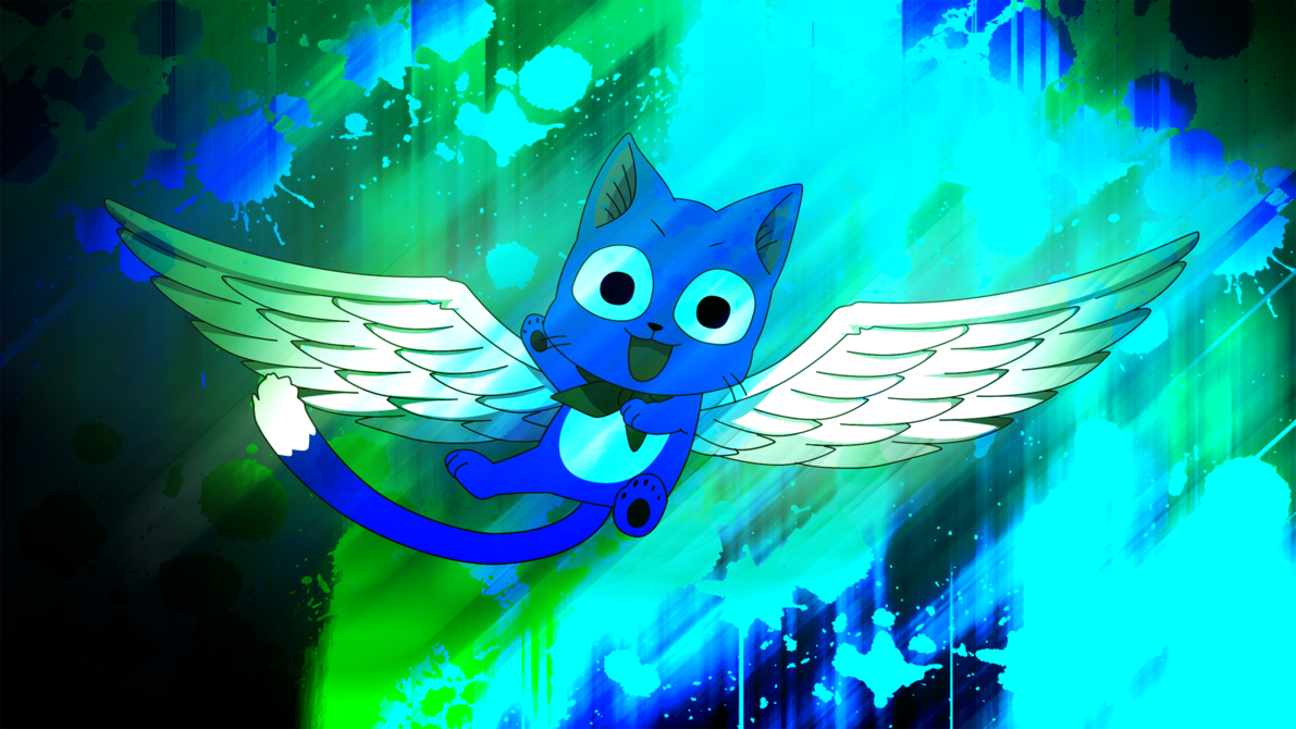 Fairy Tail Happy the Exceed Wallpaper (1080p) by EnemyD