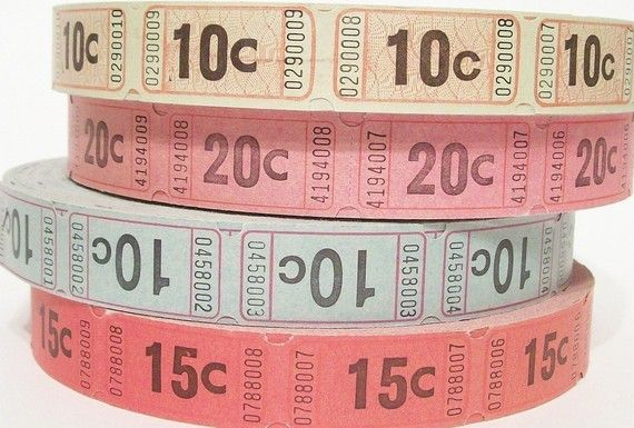 tickets to go with carnival themed classroom